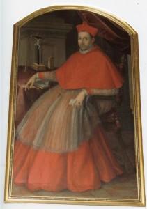 Portret Jerzego Radziwiłła biskupa krakowskiego, autor nieznany, klasztor Franciszkanów w Krakowie. Fot. autorka.